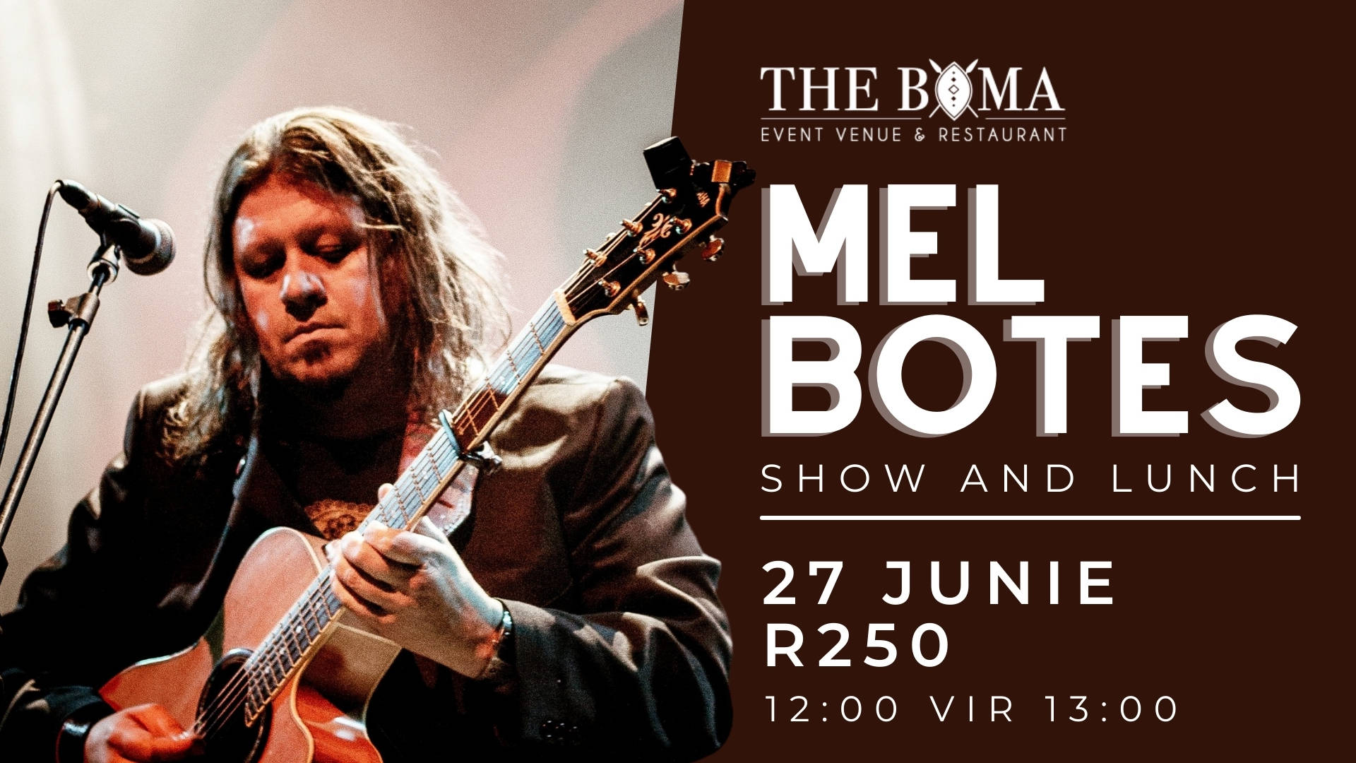 Mel Botes - Acoustic Live - The Boma